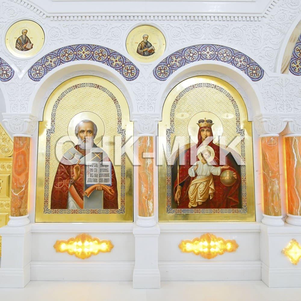 Мраморный резной иконостас в Соборе Святого Равноапостольного Князя Владимира в Ставрополе (фото 4)
