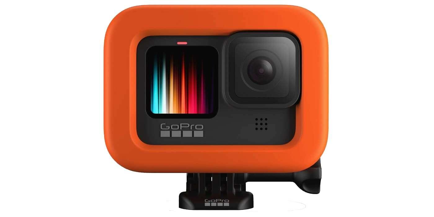 Поплавок для камеры GoPro HERO9 (ADFLT-001) Floaty с камерой вид спереди