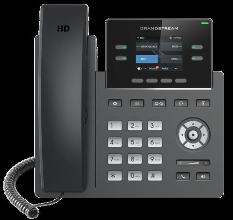Grandstream GRP2612P - IP телефон (PoE, блок питания не входит в комплект). 2 SIP аккаунта, 4 линии, цветной LCD, PoE, 16 virtualBLF