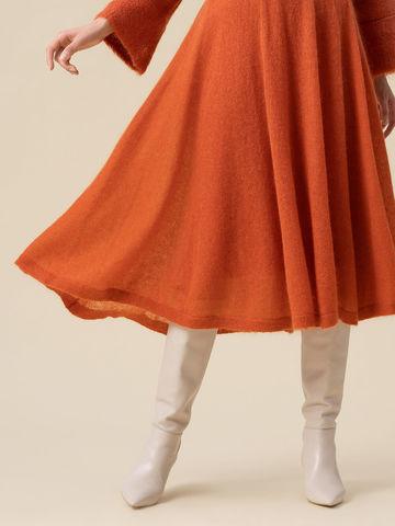 Женская юбка терракотового цвета - фото 4