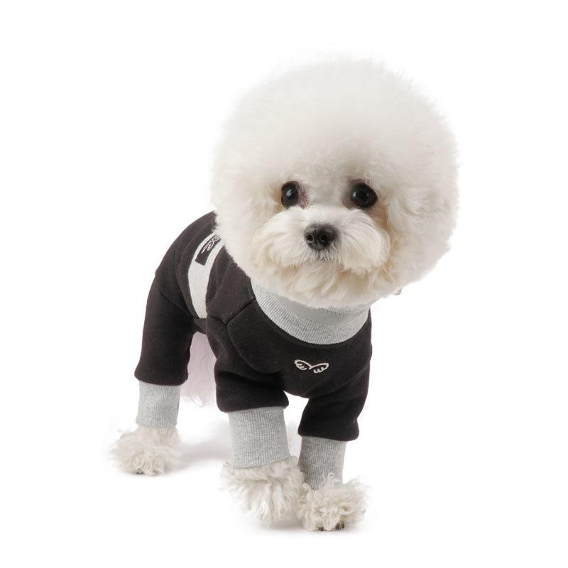 421 PA - Теплый коcтюм для собак на меховой подкладке с манжетами для девочек