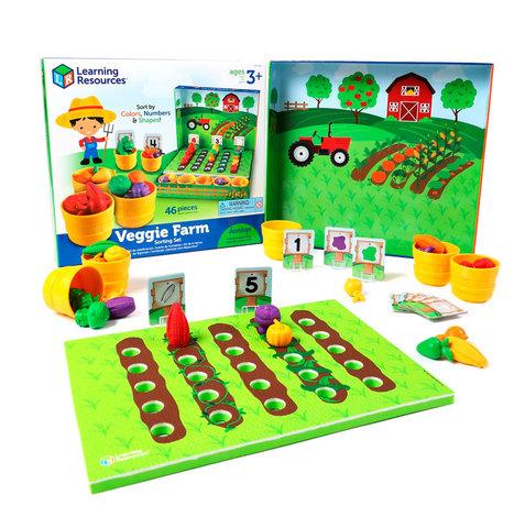 LER5553 Набор для сортировки Выращиваем овощи, с карточками Learning Resources