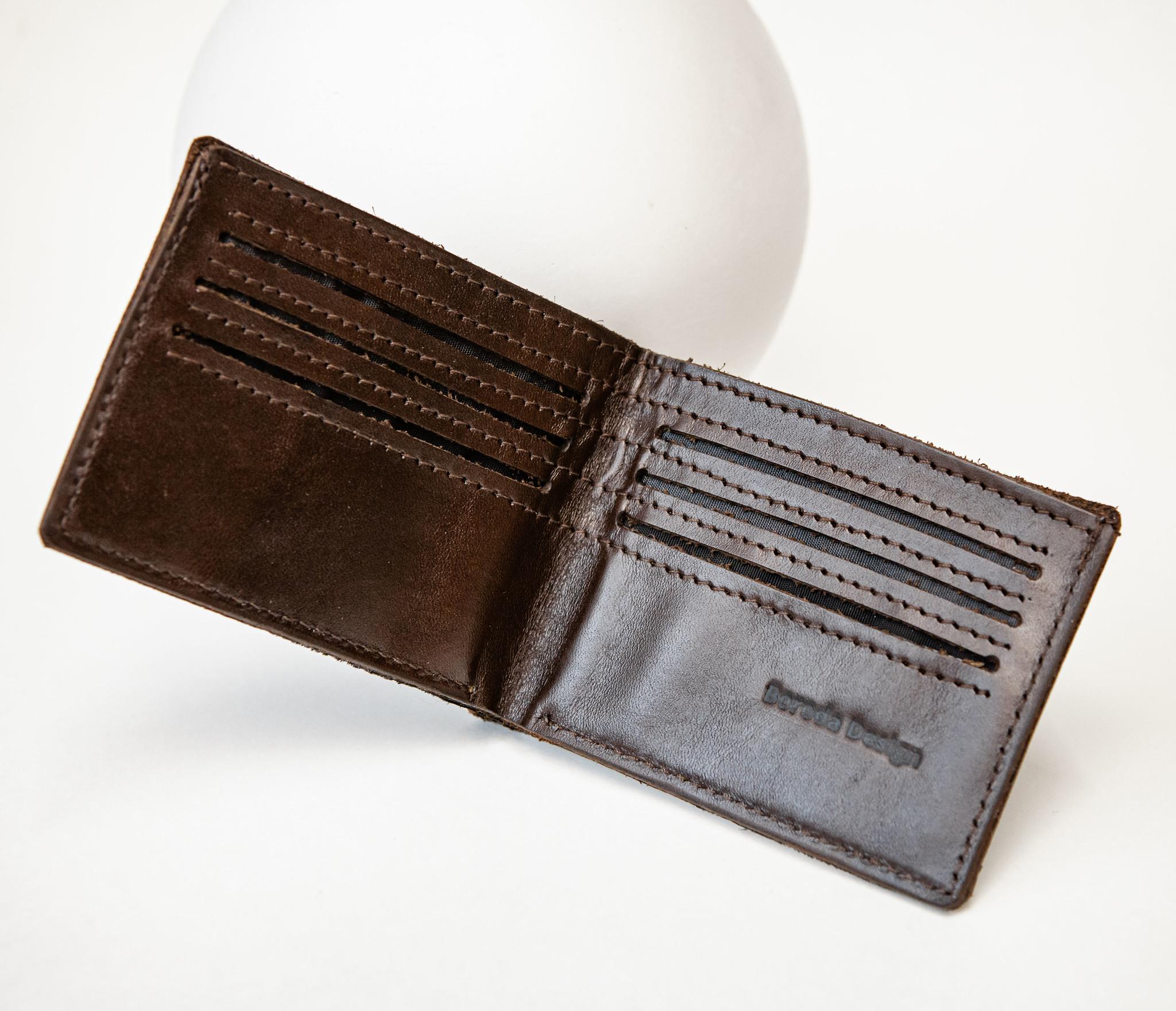 WB159 Мужской кошелек с черепахой в полинезийском стиле, «Boroda Design» фото 05