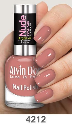 Alvin D`or Лак для ногтей Гель NUDE  тон 4212