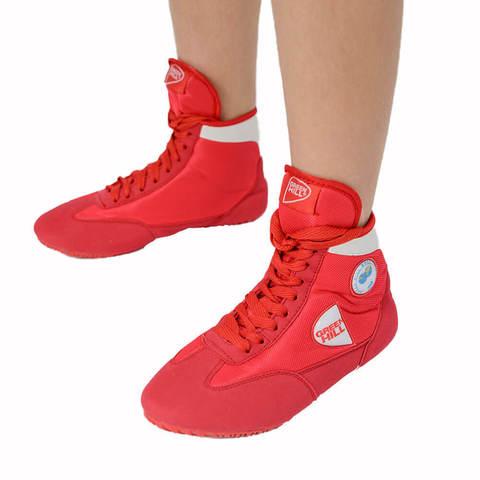 Обувь для борьбы красная Green Hill