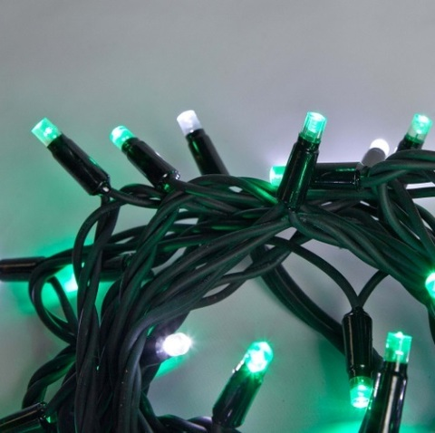 Нити зеленые гирлянды купить светодиодную каучук провод уличную на деревья