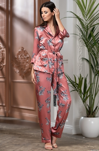 Брючный домашний костюм 3 предмета  Mia-Amore SAVANNA САВАННА 8856
