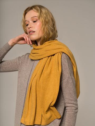 Женский шарф желтого цвета - фото 2