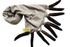Шерстяной шарфы с норкой ART-3141