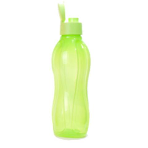 Бутылка эко с клапаном 750мл салатовая