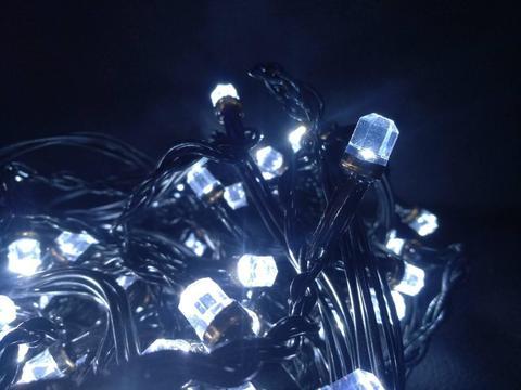 Штора-гірлянда Кришталь 256 LED E 2 на 1.5 м. тепло-біла