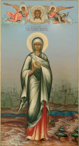 Икона святая Елизавета на дереве на левкасе мастерская Иконный Дом