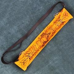 Мангал с шампурами в кожаном чехле, фото 4