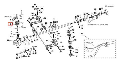 Крышка корпуса редуктора  для лодочного мотора T2 SEA-PRO