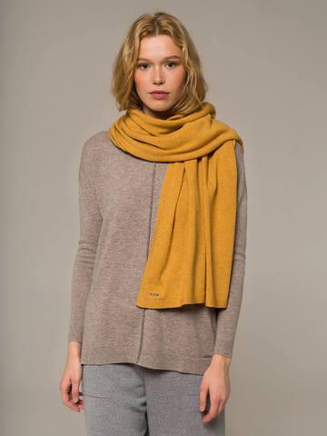 Женский шарф желтого цвета - фото 4