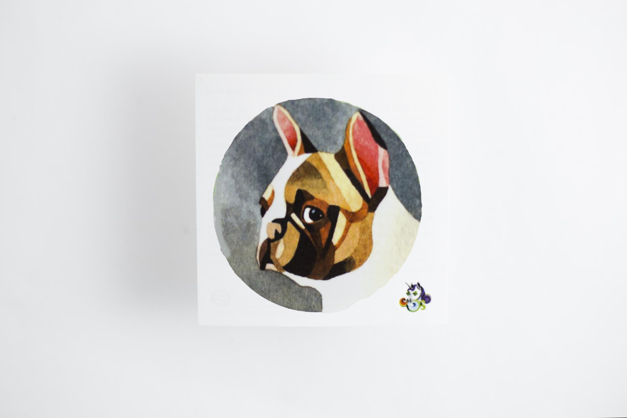 Переводная татуировка French Bulldog