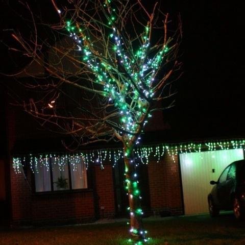 Гирлянда нить зеленая светодиодная LED каучук купить