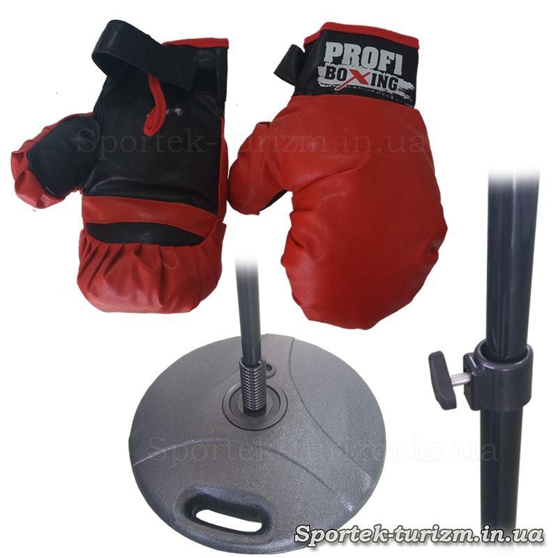 Элементы детского боксерского набора - груша напольная на стойке с перчатками  MS 0333