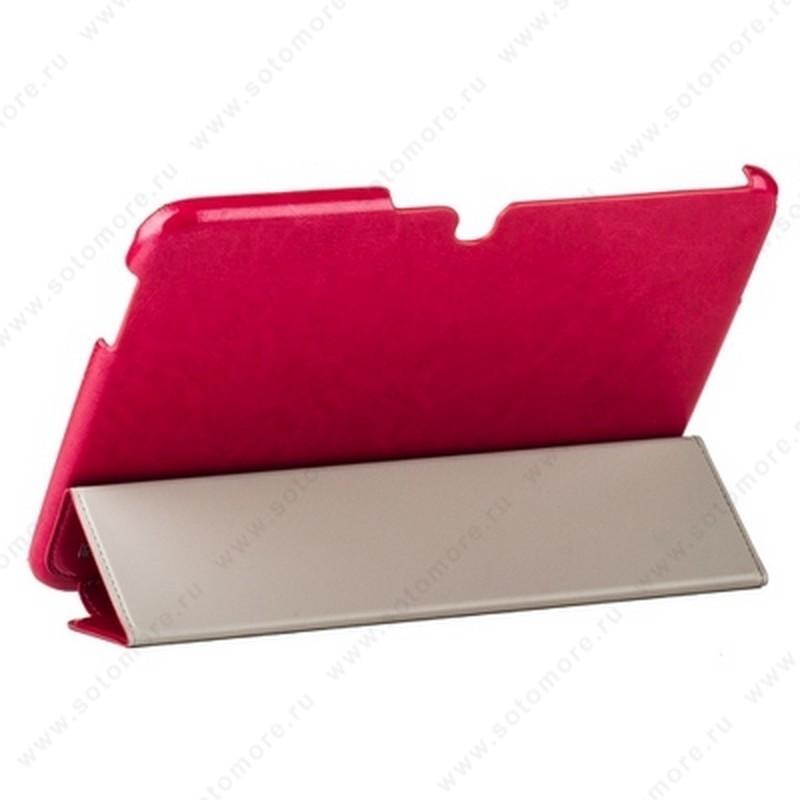 Чехол-книжка HOCO для Samsung Galaxy Tab 3 10.1 P5200/ P5210 - HOCO Crystal series Leather Case Rose red