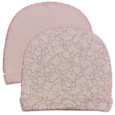 Папитто. Комплект из двух шапочек Верные друзья, медвежонок розовый