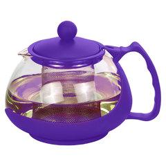 Чайник заварочный 1100мл AK-5503/18 фиолетовый с металлическим фильтром