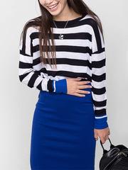 GSW003496 джемпер женский, темно-сине/голубой