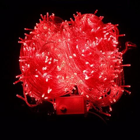 Гирлянда красная 500 LED для украшения дома елки ели сосны