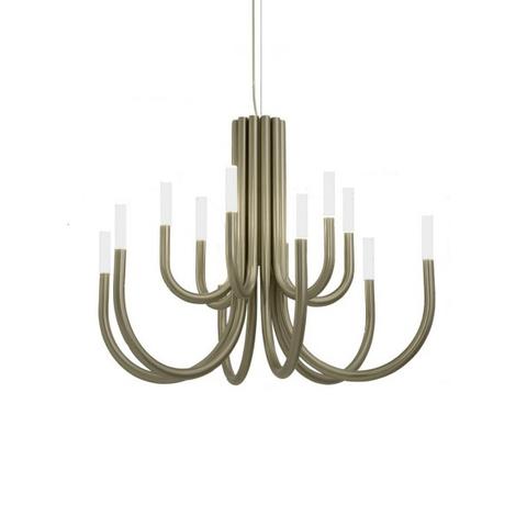 Подвесной светильник копия Palma by Alma 12 плафонов (бронзовый)