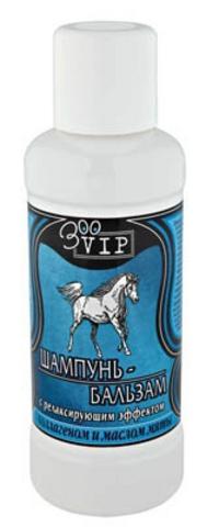 ЗооВИП Шампунь-бальзам д/лошадей с релаксирующим эффектом с коллагеном и маслом мяты 500мл  1*15