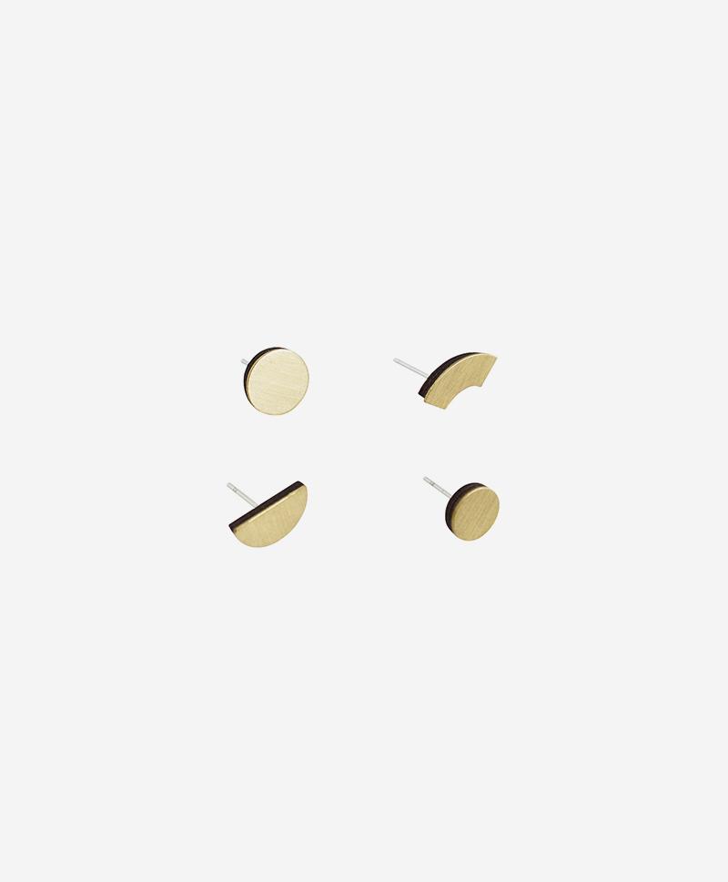 Набор сережек Phase Studs Brass