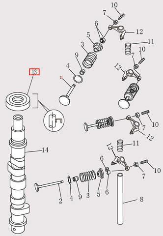Сальник распредвала 18X35X8-R для лодочного мотора F9.8 Sea-PRO (4-13)