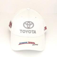Кепка с вышитым логотипом Тойота (Кепка Toyota) белая