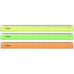 Линейка Neon Cristal 30 см пластиковая прозрачная