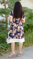 Адажио лето. Праздничное платье больших размеров. Роза синий.