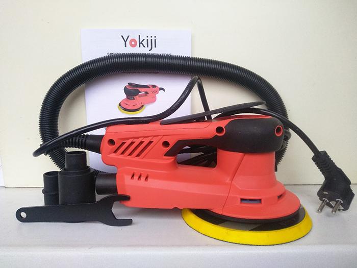 Бесщеточная шлиф-машинка YOKIJI с эксцентриком 5.0 мм купить в Москве