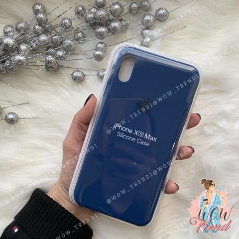 Чехол iPhone XS Max Silicone Case /blue horizon/