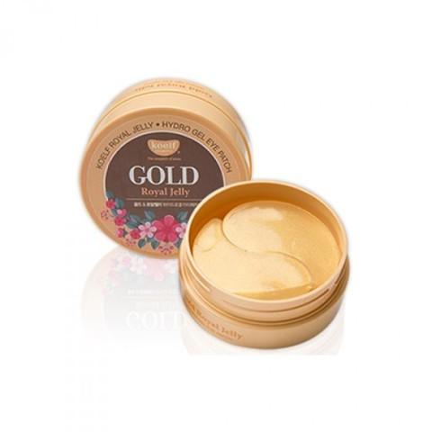 KOELF Gold & Royal Jelly Eye Patch Гидрогелевые патчи для глаз с золотом и маточным молочком(60 шт)
