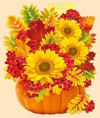 Плакат Осенний букет, 399*399мм