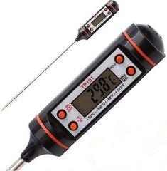Термометр электронный ТР-101 PRO с металлическим щупом. Черный
