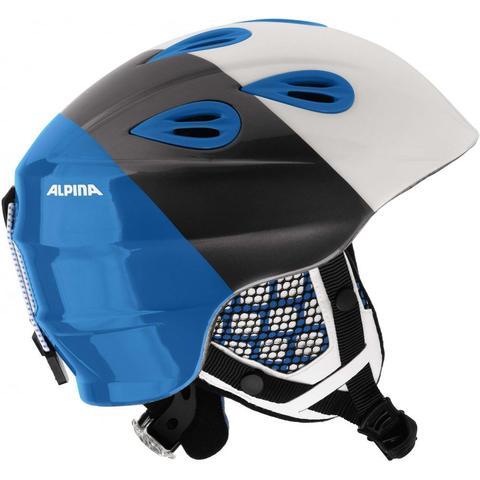 Картинка шлем горнолыжный Alpina GRAP 2.0 JR white-silver-blue