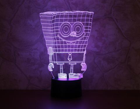 3D лампа Спанч Боб