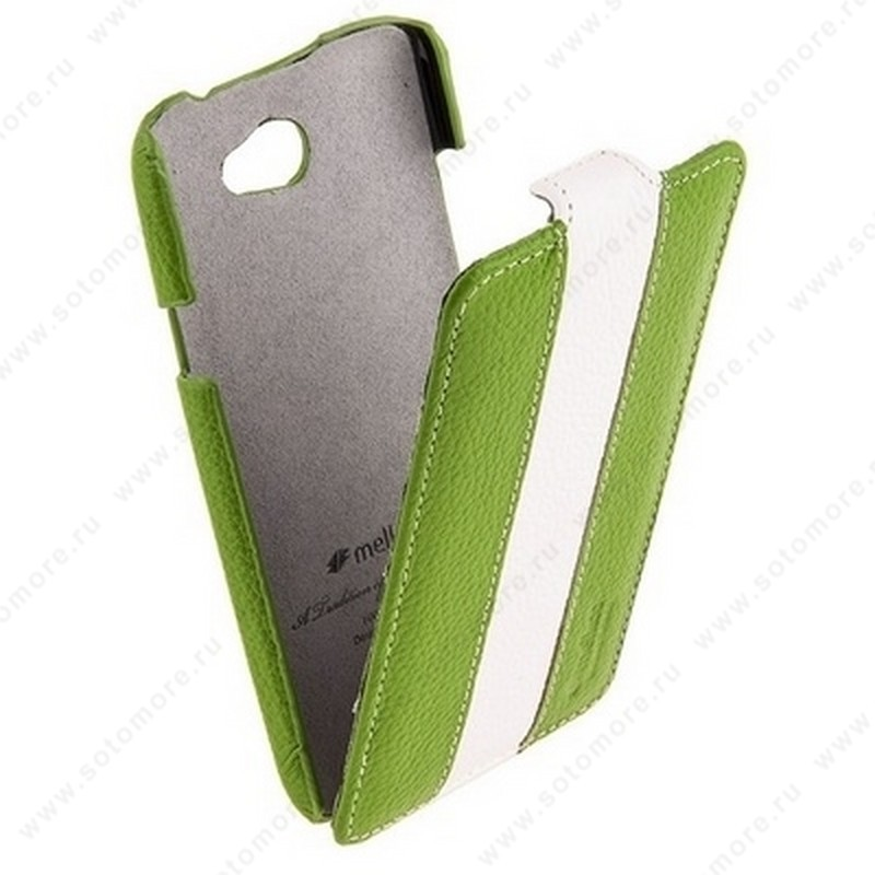 Чехол-флип Melkco для HTC One X Limited Edition Jacka Type (Green/White LC)