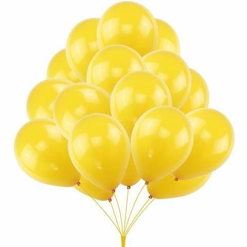 Воздушные шары желтые с гелием