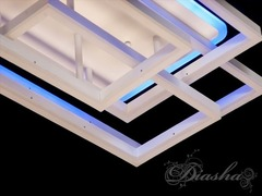 Потолочная светодиодная люстра с пультом, диммером и подсветкой 195W