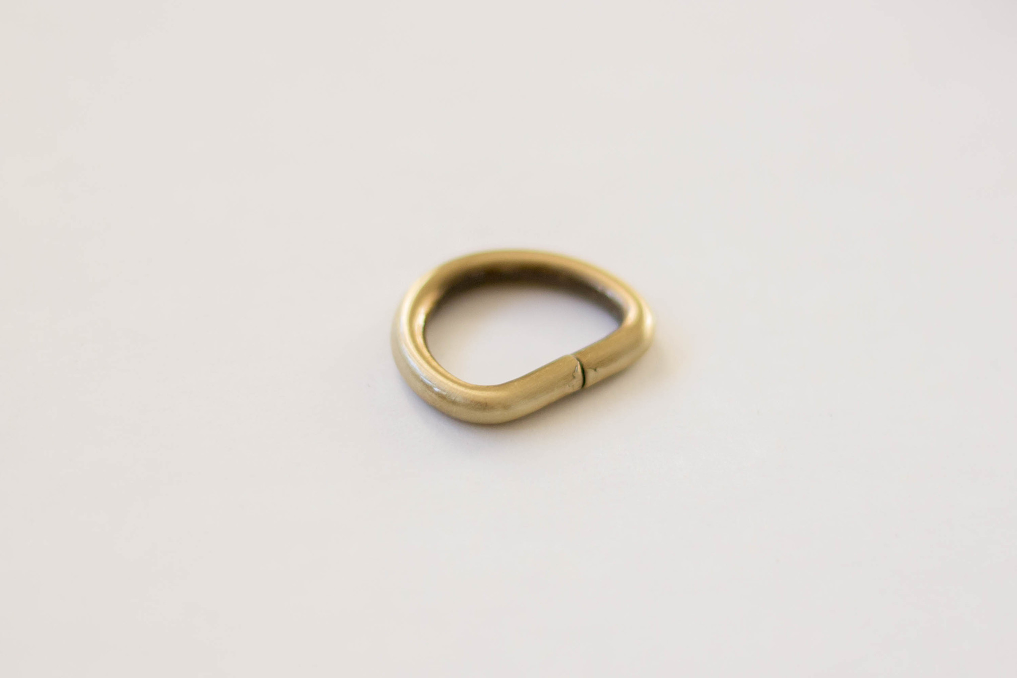 Полукольцо 20 мм - латунь