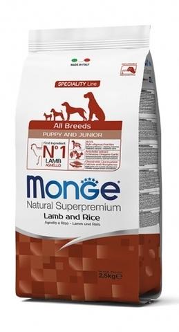 Monge Puppy & Junior Lamb 15 кг