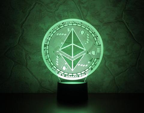 3D светильник Ethereum (Эфириум)