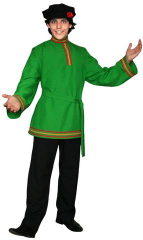 Зелёная косоворотка