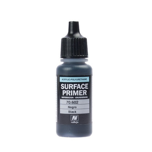 Грунты 70602 Surface Primer акриловый полиуретановый грунт, черный (Black), 17 мл Acrylicos Vallejo 70602.jpg