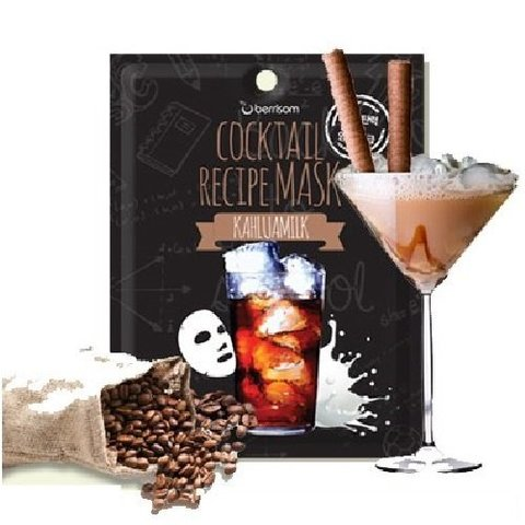 Коктейльная листовая маска Berrisom Cocktail Recipe Mask Kahlua Milk